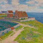 "Henry Moret (1856 – 1913) ""Un village à Ploemeur, Morbihan"" Öl auf Leinwand   47 x 55 cm Taxe: 60.000 - 80.000 Euro"