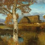 Herbst im Moor 1895 Otto Modersohn Kunsthalle Bremen-Der Kunstverein in Bremen Foto Lars Lohrisch ARTOTHEK
