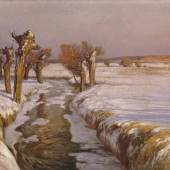 Hermann Koenemann, Schneeschmelze © Staatliche Schlösser, Gärten und Kunstsammlungen Mecklenburg-Vorpommern