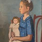 Hermann Teuber, Mädchen mit Puppe, 1952, © Nachlass Hermann Teuber, München