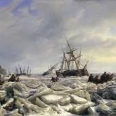 Hermann Kauffmann d. Ä. (1808– 1889) Nach der Sturmflut, 1839 Öl auf Leinwand, 86,6 x 118 cm © Hamburger Kunsthalle / bpk Foto: Elke Walford