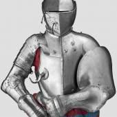 Ein seltener süddeutscher Halbharnisch mit Verstärkungsplatten für das Italienische Gestech, um 1580-90.