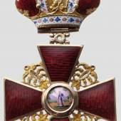 St. Anna-Orden - Ordenskreuz 2. Klasse mit Krone. Zuschlag: 63.000 Euro