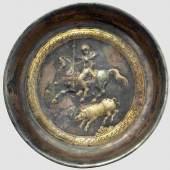 Spätskythische, frühsarma-tische Silberschale aus dem 4.-3. Jahrhundert vor Christus. Zuschlag: 34.000 Euro