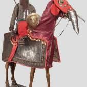 Indische Rüstung für Mann und Pferd aus Teilen aus dem 17. und 19. Jahrhundert.  Startpreis: 15.000 Euro