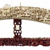 Reich beschnitzter Elfenbein-Stoßzahn, China, aus dem 19. Jahrhundert. Startpreis: 12.000 Euro