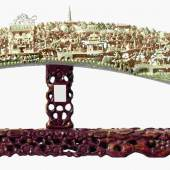 Reich beschnitzter Elfenbein-Stoßzahn, China, aus dem 19. Jahrhundert. Zuschlag: 21.000 Euro