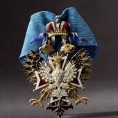 Kaiserlich-Königlicher Orden vom Weißen Adler 1868, gefertigt von Juwelier J.E. Keibel. Startpreis: 35.000 Euro