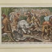 """Johannes Stradanus """"Venationes Ferarum, Avium, Piscium..."""", Antwerpen, 1578-96 und später         _     Nahezu vollständige Sammlung der bekannten jagdlichen Szenen.  SP: 10000 Euro"""