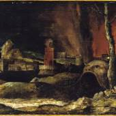 Hieronymus Bosch (um 1450–1516), Nachfolger: Christus im Limbus, um 1520, Hamburger Kunsthalle
