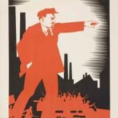 """A. Strachov, """"1870-1924 Ul'janov (Lenin)"""", SU Original 1924, Nachdruck 1968 © Museum für Gestaltung Zürich, Plakatsammlung, ZHdK"""