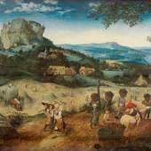 Pieter Bruegel d. Ä. (um 1525/30 vermutlich in Breugel oder Antwerpen - 1569 Brüssel) Die Heuernte 1565, Eichenholz, 114 × 158 cm Prag, The Lobkowicz Collections, Palais Lobkowicz, Prager Burg © Prag, The Lobkowicz Collections