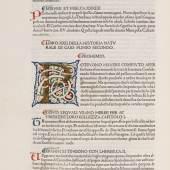 Lot: 16   Plinius Secundus, C.  Historia naturale (1476)  Schätzpreis: 35.000 EUR / 45.150 $. Erlös von € 34.000*