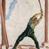 Ferdinand Holder, Holzfäller