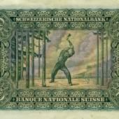 Ferdinand Holder, Holzfäller Die  50 Franken Banknote
