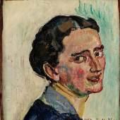 Ferdinand Hodler Bildnis Albertine Bernhard 1917 | Öl/Leinwand | 35x33,5cm Erg: €153.600