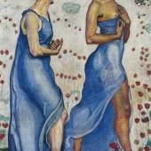 Ferdinand Hodler (1853–1918) Zwei Frauen in Blumen (Empfindung 1b), 1901/02 Öl auf Leinwand, 115 x 76 cm Sammlung Christoph Blocher © SIK-ISEA Zürich