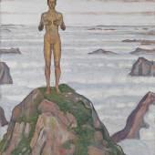 Ferdinand Hodler, Blick ins Unendliche III, 1903 Öl auf Leinwand, 100 x 80 cm Musée cantonal des Beaux-Arts, Lausanne, Ankauf, 1994 Foto © Musée cantonal des Beaux-Arts de Lausanne / Nora Rupp