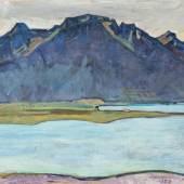 FERDINAND HODLER, LE GRAMMONT APRÈS LA PLUIE, 1917 Der Grammont nach dem Regen,  Öl auf Leinwand 60.5 x 80 cm Rudolf Staechelin Collection  Foto: Robert Bayer