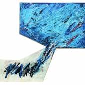 Gerhard Hoehme: Isthmus / Isthmisches Bild, 1957 Öl auf Leinwand, 55 x 62 cm Sammlung Christian Wulff, Frankfurt Foto: Uwe Dettmar, Frankfurt a. M. © VG Bild-Kunst, Bonn 2017