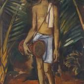 KARL HOFER Hinduknabe, Um 1911/12. Öl auf Leinwand Schätzpreis: € 180.000 - 240.000