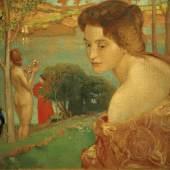 Ludwig von Hofmann Mädchen am Strande (Abendstimmung) Um 1898 Öl und Tempera auf Leinwand Städtische Galerie Dresden, Kunstsammlung, Museen der Stadt Dresden Foto: akg images
