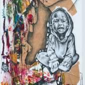 Ilovu Homateni: Youth's Stagnant poverty Stagnierende Armut der Jugend, 2015  Collage auf Papier / Collage on paper 61 x 43 cm Sammlung Würth, Inv. 17054