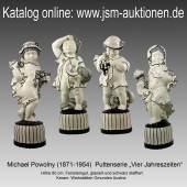 """Powolny, Michael (1871-1954)  Puttenserie """"Vier Jahreszeiten"""""""