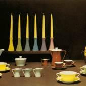 Lilien-Porzellan Daisy im Dekor Melange und Espressobraun, Werbung 1966  © René Edenhofer