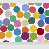 Damien Hirst, English Lilac (2016), Household gloss on canvas 40,6 x 61 cm, in HOUGHTON HALL, NORFOLK copyright Damien Hirst and Science Ltd. All rights Reserverd, DACS 2018, Photographed by Prudence Cuming Associates Ltd