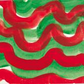 Howard Hodgkin, Back cloth design for 'Rhymes with Silver', 1997, acrylic on card (est. £15,000-25,000)