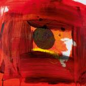 Howard Hodgkin, For Alan I, carborundum relief printed in colours, with hand-colouring by Andrew Smith, 2014 (est. £5,000-7,000)