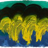 Howard Hodgkin, Indian Waves No. 32, hand painted gouache on intaglio-impressed Khadi paper, executed in 1990-1 (est. £40,000-60,000)