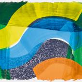 Howard Hodgkin, Put out more flags, etching with aquatint and carborundum, with hand-colouring by Jack Shirreff, 1992 (est. £2,500-3,500)