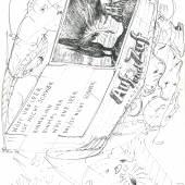 Kollaboration von Günter Brus und Dominik Steiger, Jeden jeden Mittwoch. Ein Zwoman, 1974 © BRUSEUM / Neue Galerie Graz am Universalmuseum Joanneum