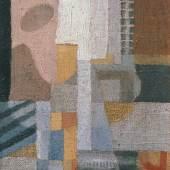 Erika Giovanna Klien, Komposition mit Saiteninstrumenten, 1923–1924 © Belvedere Wien Öl auf Leinwand auf Karton 29,5 x 14 cm