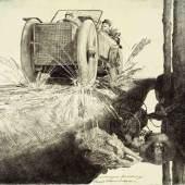 Klemens Brosch, Verhungerter Flüchtling, 1916 © Grafische Sammlung des Oö. Landesmuseums