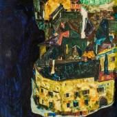 Egon Schiele, Stadt am blauen Fluss II, 1911 © Belvedere, Wien