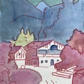 Hubert Schmalix, Ohne Titel, Gouache auf Papier, 65 x 50 cm, 2013