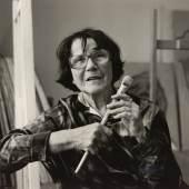 Franz Hubmann Maria Lassnig (1919-2014), 1998 Silbergelatineabzug ALBERTINA, Wien – Schenkung Sammlung Helmut Klewan © Franz Hubmann | Imagno | picturedesk.com