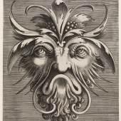 Frans Huys nach Cornelis Floris Groteske Maske  Kupferstich, 1551, 162 x 146 mm Herzog Anton Ulrich-Museum Braunschweig Foto: Claus Cordes, Bildarchiv Herzog Anton Ulrich-Museum Braunschweig