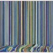 Ian Davenport Poured Triptych Etching L'Eglise (After Van Gogh)