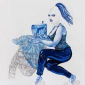 IleanaPascalau Hedonia 2018 ink and gouache on paper 20x150cm