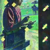 Ilya Kabakov (geb. 1933) Mädchen mit Waage, 1972, 2002, Öl/Leinwand, 138 x 89 cm, Schätzwert € 300.000 - 400.000 Auktion 20. Mai 2014