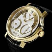 Los 563Y GEORGE DANIELS. A VERY RARE AND FINE 18K GOLD LIMITED SERIES MANUAL WIND INSTANTANEOUS CALENDAR WRISTWATCH WITH POWER RESERVE INDICATION, CO-AXIAL ESCAPEMENT AND START STOP MECHANISM, Daniels Anniversary Edition, No.24/35 £70,000 - 100,000