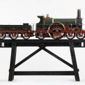 Los 110TP A FINELY ENGINEERED 10 ¼ INCH GAUGE (SCALE 8.22:1) LIVE STEAM MODEL OF A BROAD GAUGE GWR 4-2-2 ROVER CLASS EXPRESS LOCOMOTIVE 'DRAGON', The original designed by Daniel Gooch, model built by Ken Woodham, £25,000 - 35,000
