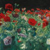 """John Singer Sargent 1856 - 1925 POPPIES (A STUDY OF POPPIES FOR """"CARNATION LILY, LILY, ROSE"""") Estimate 4,000,000 — 6,000,000 USD"""