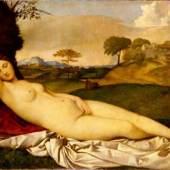 Giorgione/Tizian, Die schlummernde Venus, um 1508/10, Gemäldegalerie Alte Meister, © SKD, Foto: Elke Estel/Hans-Peter Klut