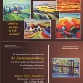 30. Atelierausstellung Franz Rauscher 2012