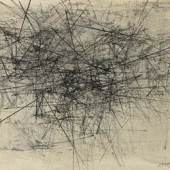 Lenz Klotz, Ohne jede Vorsichtsmassnahme, 1960, Oel auf Leinwand, 81 x 73 cm